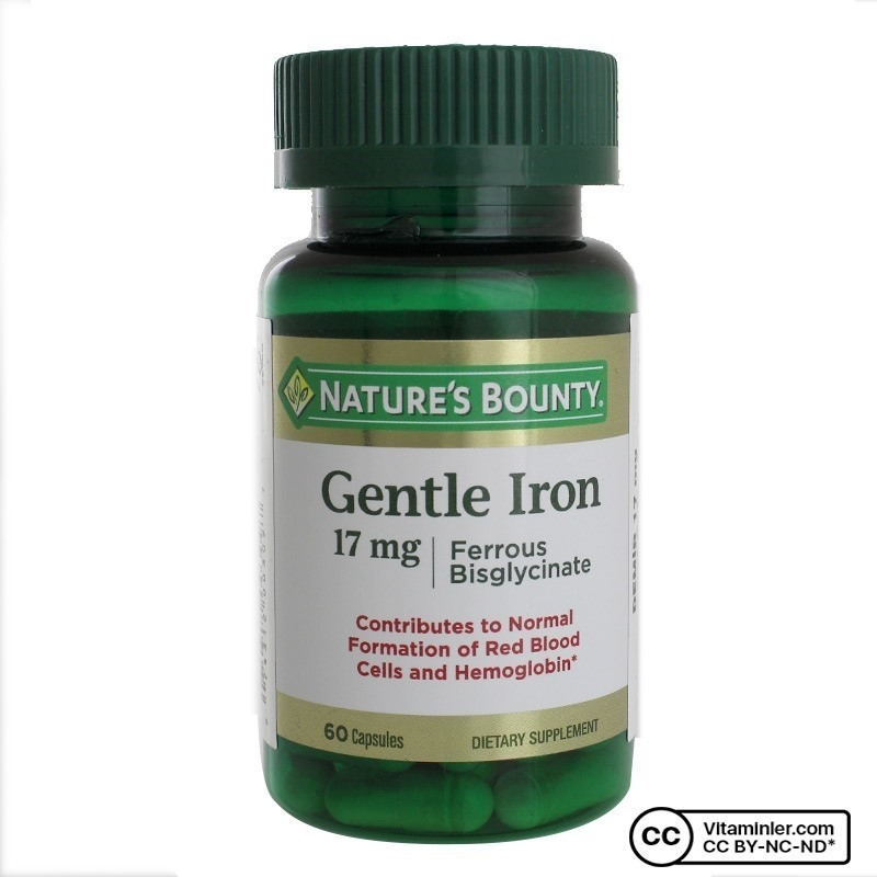 Nature's Bounty Gentle Iron 17 mg 60 Kapsul