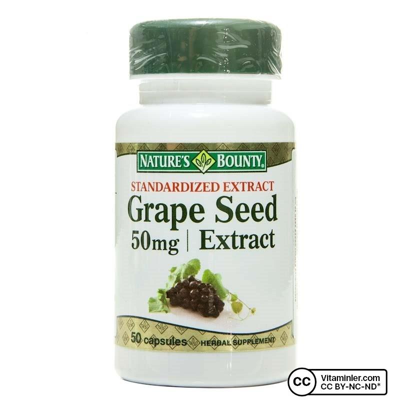 Nature's Bounty Grape Seed Extract 50 Mg 50 Kapsül