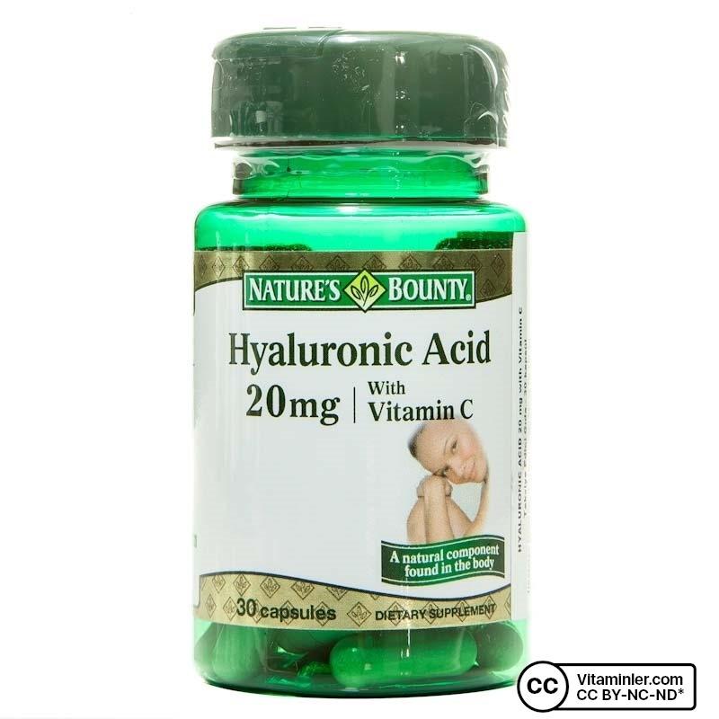 Nature's Bounty Hyaluronic Acid 30 Kapsül