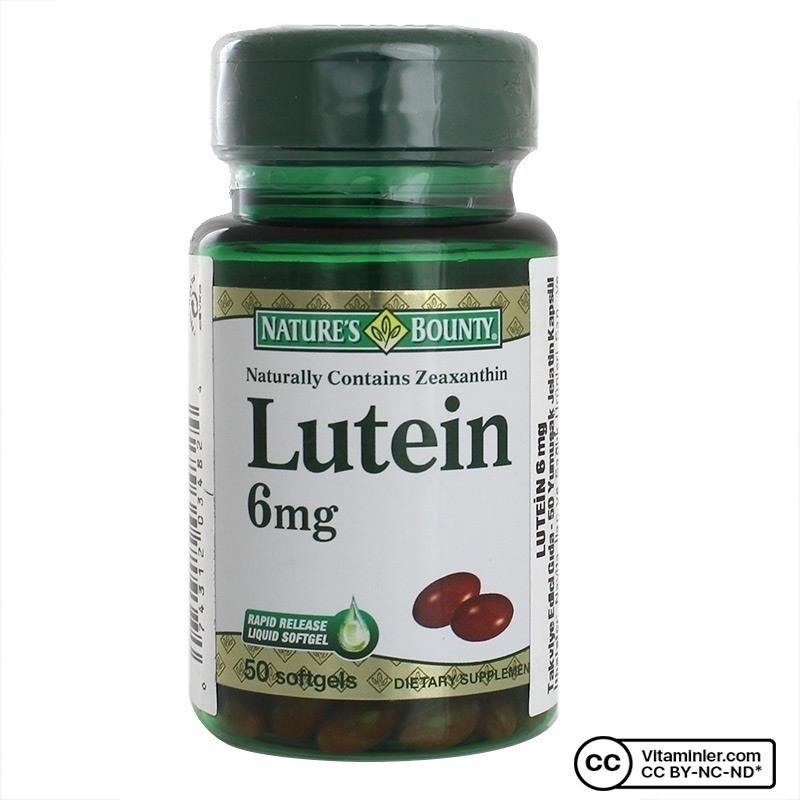 Nature's Bounty Lutein 6 Mg 50 Kapsül