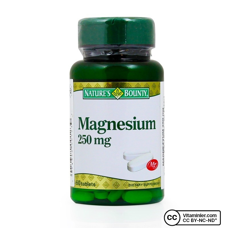 Nature's Bounty Magnesium 250 Mg 60 Tablet
