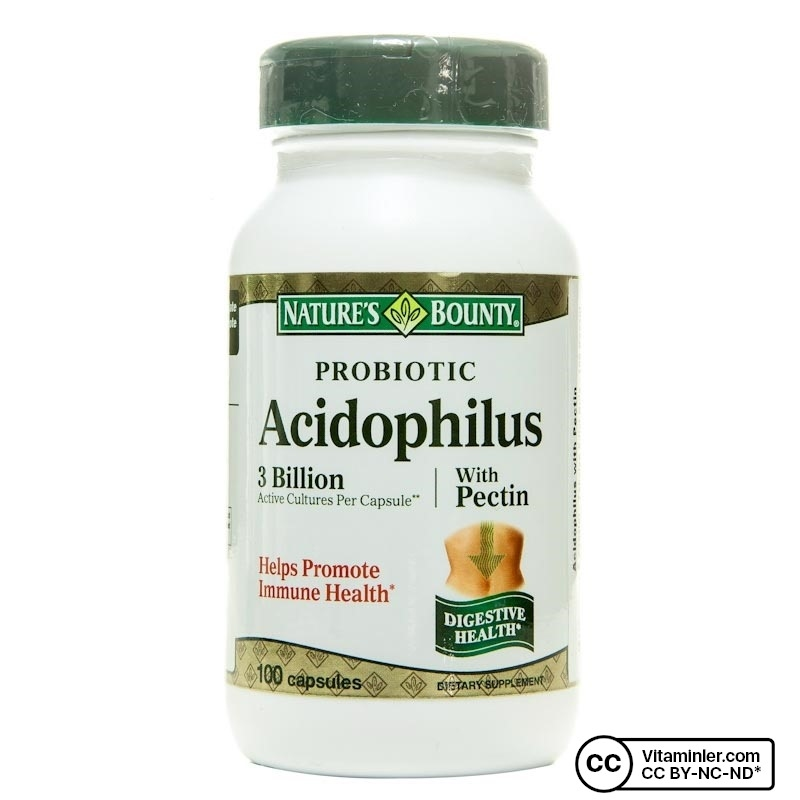 Nature's Bounty Probiotic Acidophilus With Pectin 100 Kapsül