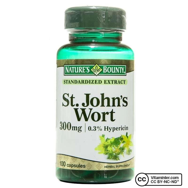 Nature's Bounty St. John's Wort 300 Mg 100 Kapsül