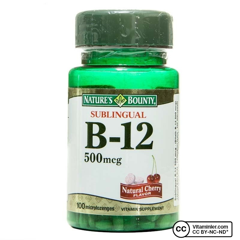 Nature's Bounty Sublingual Vitamin B12 500 mcg 100 Tablet