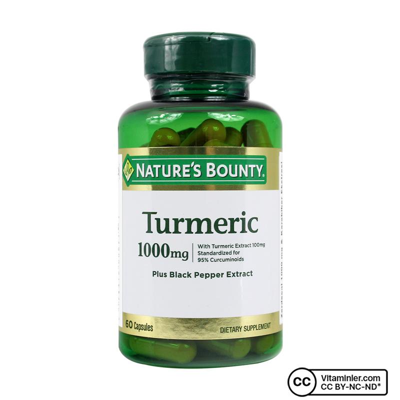 Nature's Bounty Turmeric 1000 Mg Plus Black Pepper 60 Kapsül