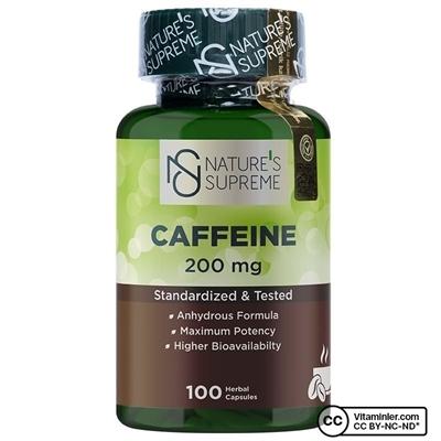 Nature\'s Supreme Caffeine 200 Mg 100 Kapsül