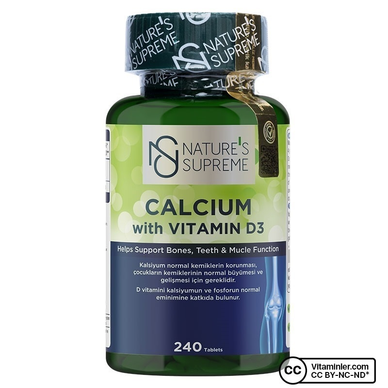 Nature's Supreme Calcium with Vitamin D3 240 Tablet