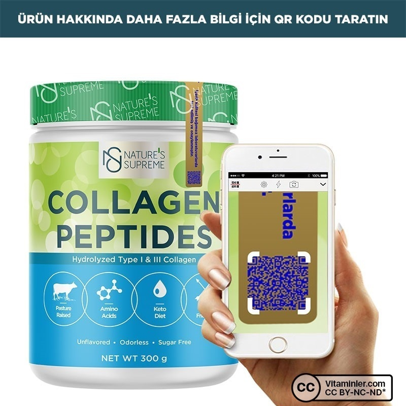 Nature's Supreme Collagen Peptides Powder 300 Gr