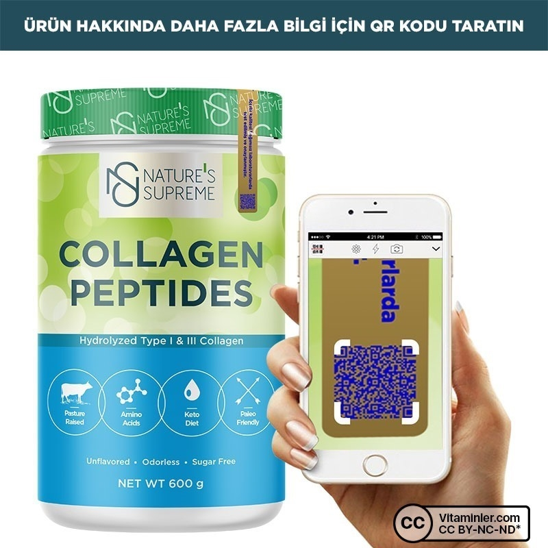 Nature's Supreme Collagen Peptides Powder 600 Gr