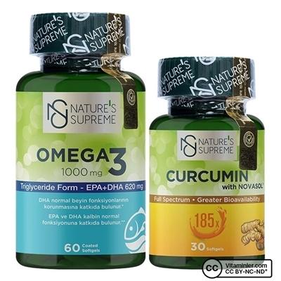 Nature's Supreme Curcumin + Omega 3 Kombinasyonu