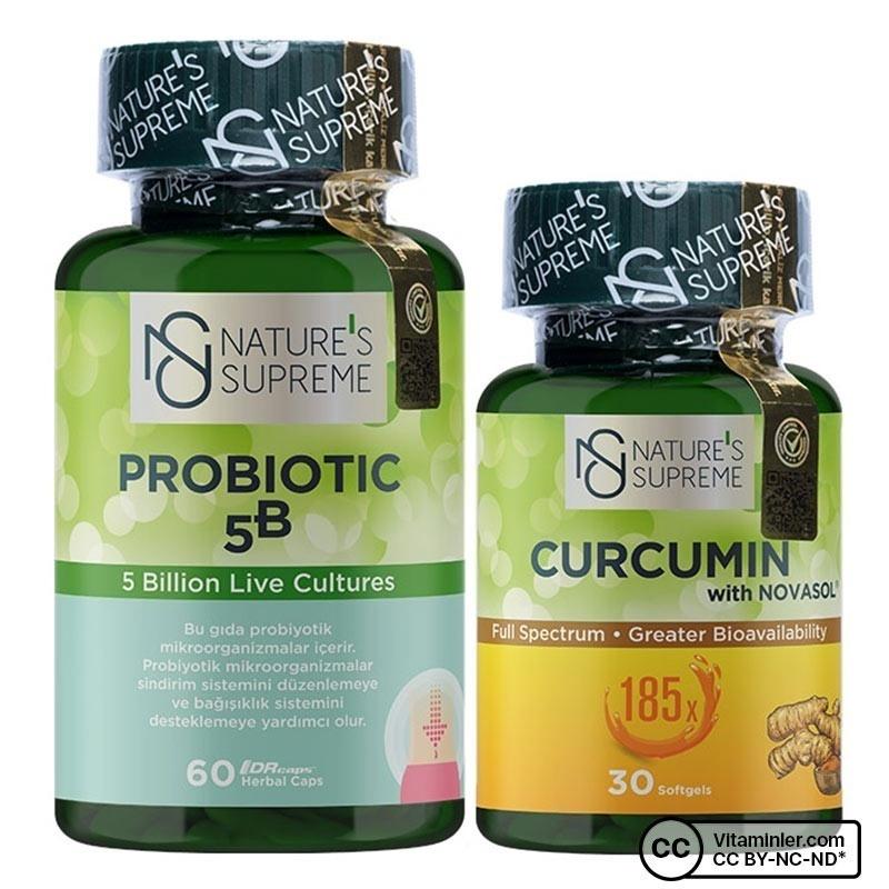 Nature's Supreme Curcumin + Probiyotik Kombinasyonu