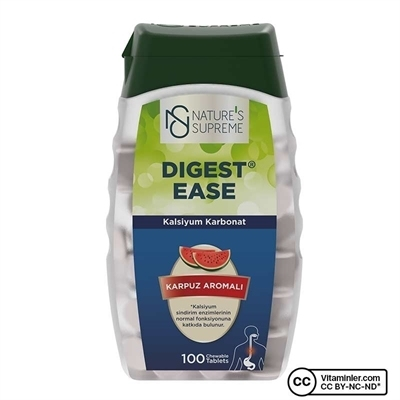 Nature's Supreme Digest Ease 100 Çiğnenebilir Tablet