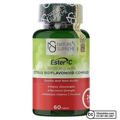 Nature\'s Supreme Ester-C 1000 Mg Vitamini 60 Tablet