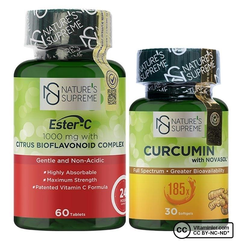 Nature's Supreme Ester C + Curcumin Kombinasyonu