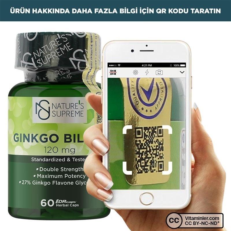 Nature's Supreme Ginkgo Biloba 120 Mg 60 Kapsül