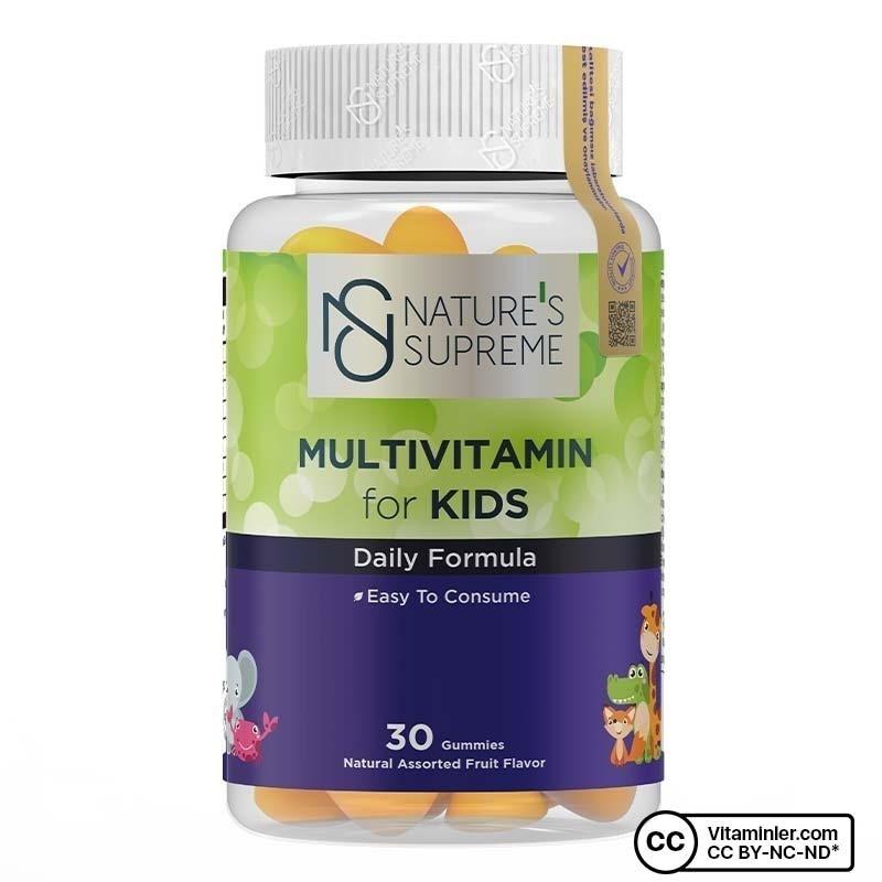 Nature's Supreme Gummies Multivitamin for Kids 30 Çiğnenebilir Form