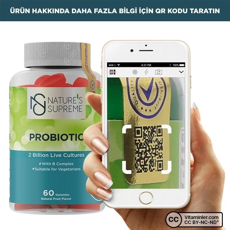 Nature's Supreme Gummies Probiotic 60 Çiğnenebilir Form