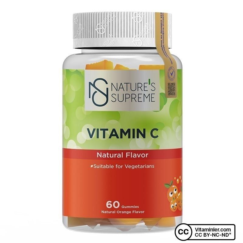 Nature's Supreme Gummies Vitamin C 60 Çiğnenebilir Form