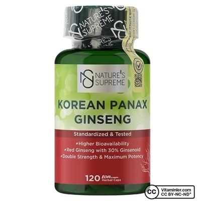Nature\'s Supreme Korean Panax Ginseng 120 Kapsül