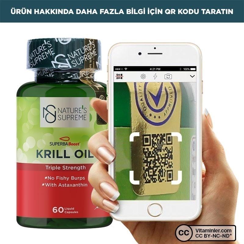 Nature's Supreme Krill Oil 60 Kapsül