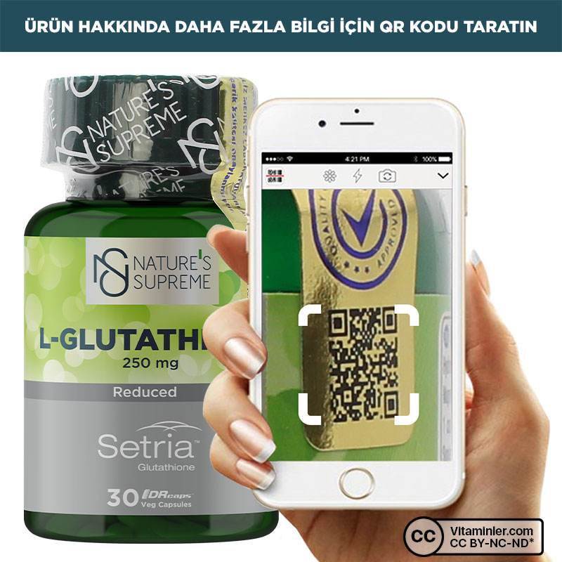 Nature's Supreme L-Glutathione 250 Mg 30 Kapsül