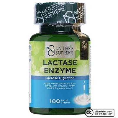 Nature\'s Supreme Lactase Enzyme 100 Kapsül