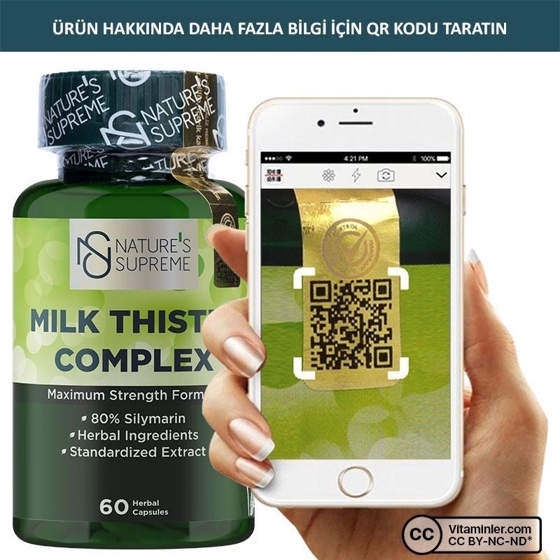 Nature's Supreme Milk Thistle Complex 60 Kapsül