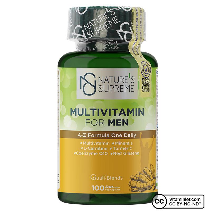 Nature's Supreme Multivitamin for Men 100 Kapsül