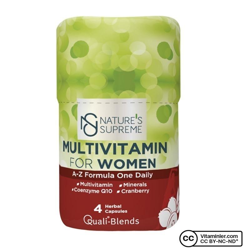Nature's Supreme Multivitamin for Women 4 Kapsül
