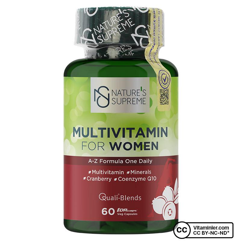 Nature's Supreme Multivitamin for Women 60 Kapsül
