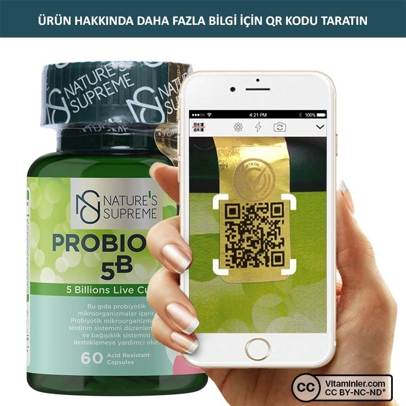Nature's Supreme Probiotic 5B 60 Kapsül