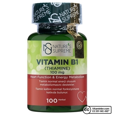 Nature\'s Supreme Vitamin B1 100 Mg Kapsül