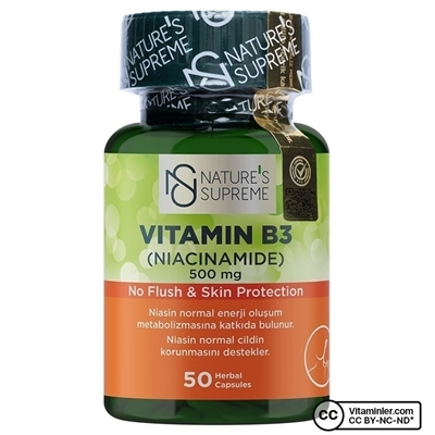 Nature\'s Supreme Vitamin B3 500 Mg (No Flush) Kapsül