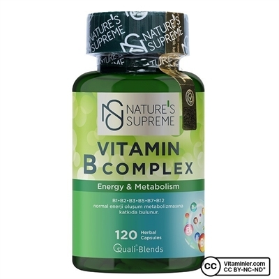 Nature\'s Supreme Vitamin B Complex 120 Kapsül
