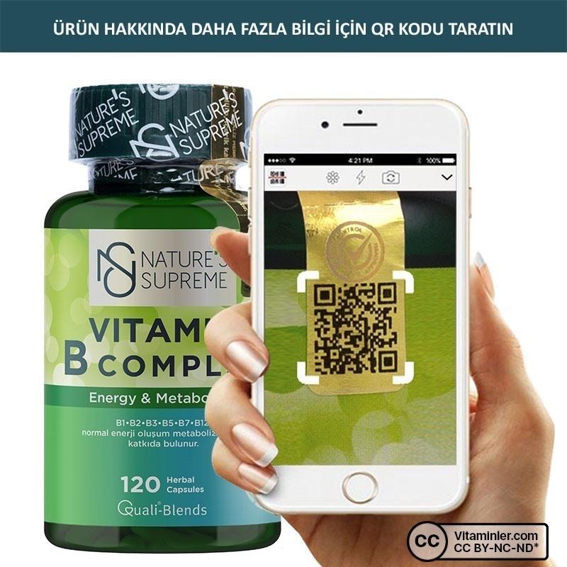 Nature's Supreme Vitamin B Complex 120 Kapsül