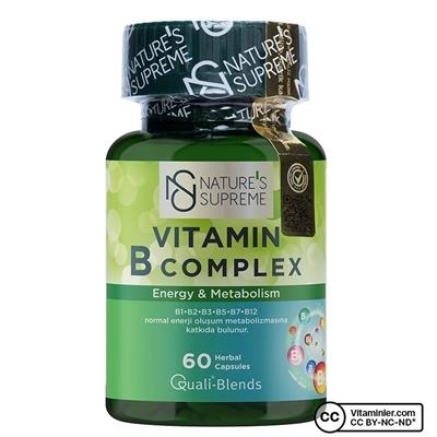 Nature\'s Supreme Vitamin B Complex 60 Kapsül