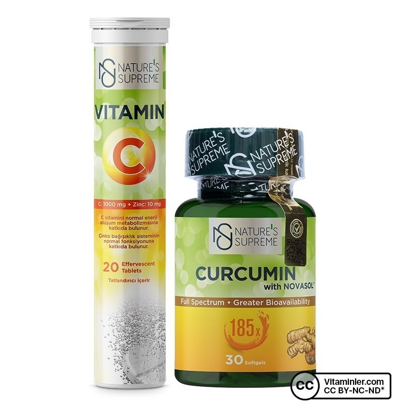 Nature's Supreme Vitamin C + Curcumin Kombinasyonu