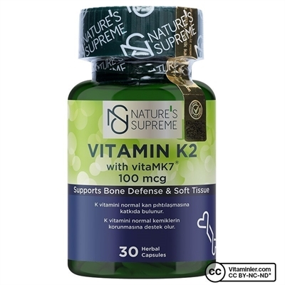 Nature\'s Supreme Vitamin K2 100 Mcg 30 Kapsül