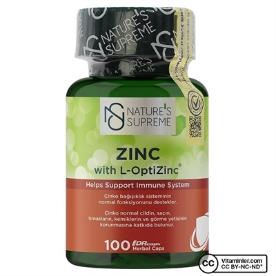 Nature\'s Supreme Zinc 15 Mg 100 Kapsül