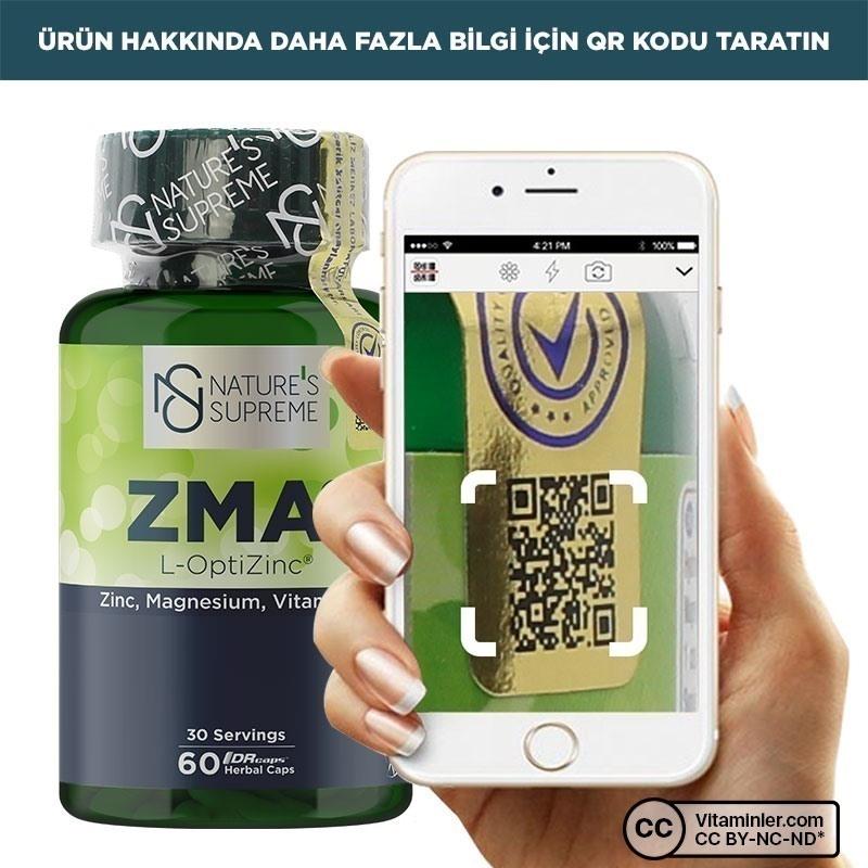 Nature's Supreme ZMA 60 Kapsül
