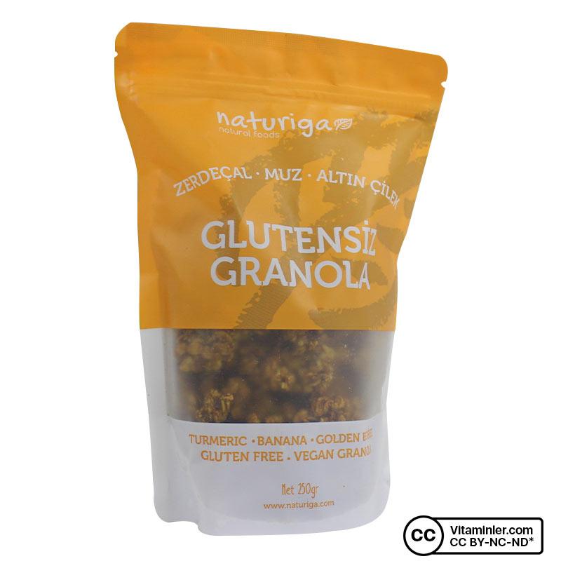 Naturiga Glutensiz Granola Zerdeçal Altın Çilek 250 Gr