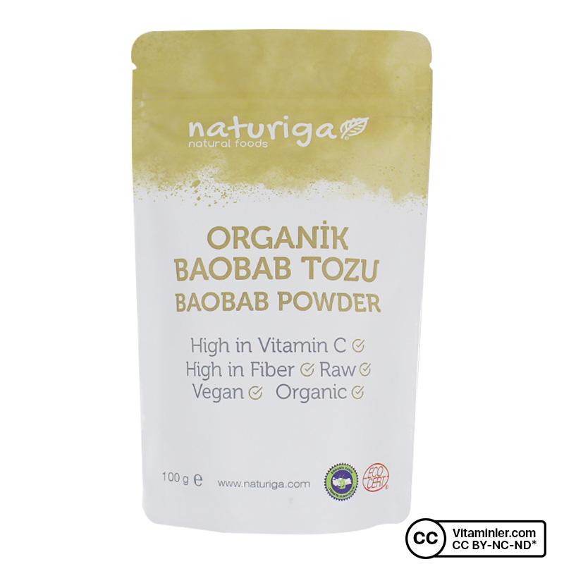 Naturiga Organik Baobab Tozu 100 Gr