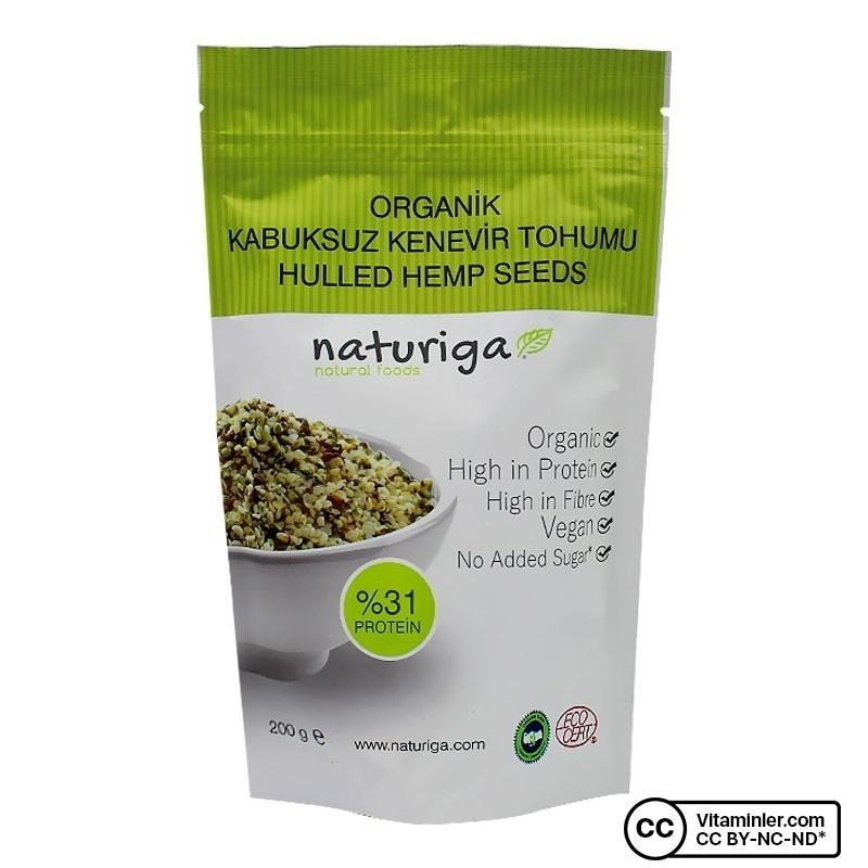 Naturiga Organik Kabuksuz Kenevir Tohumu 200 Gr
