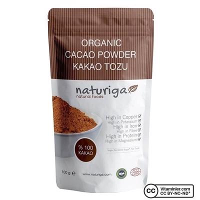 Naturiga Organik Kakao Tozu 100 Gr