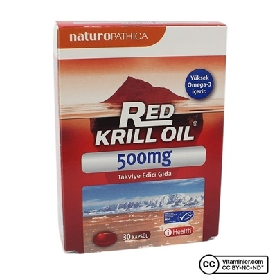 Naturopathica Red Krill Oil 500 Mg Omega-3 30 Kapsül