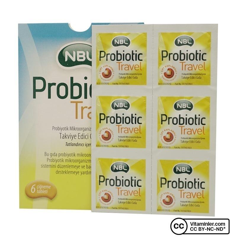 NBL Probiotic Travel 6 Çiğneme Tableti