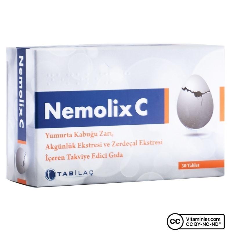 Nemolix C Yumurta Kabugu Zarı 30 Tablet