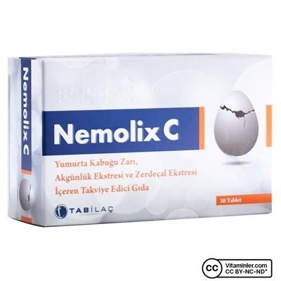 Tab Nemolix C Yumurta Kabugu Zarı 30 Tablet