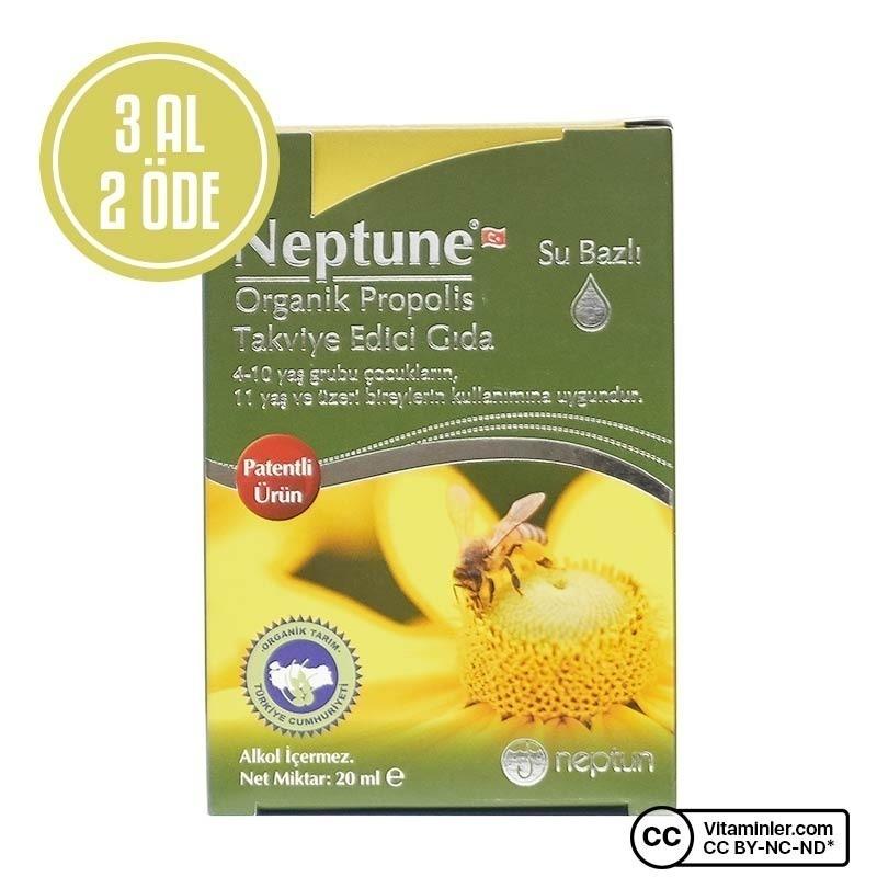 Neptune Organik Su Bazlı Propolis 20 Ml 3 Al 2 Öde