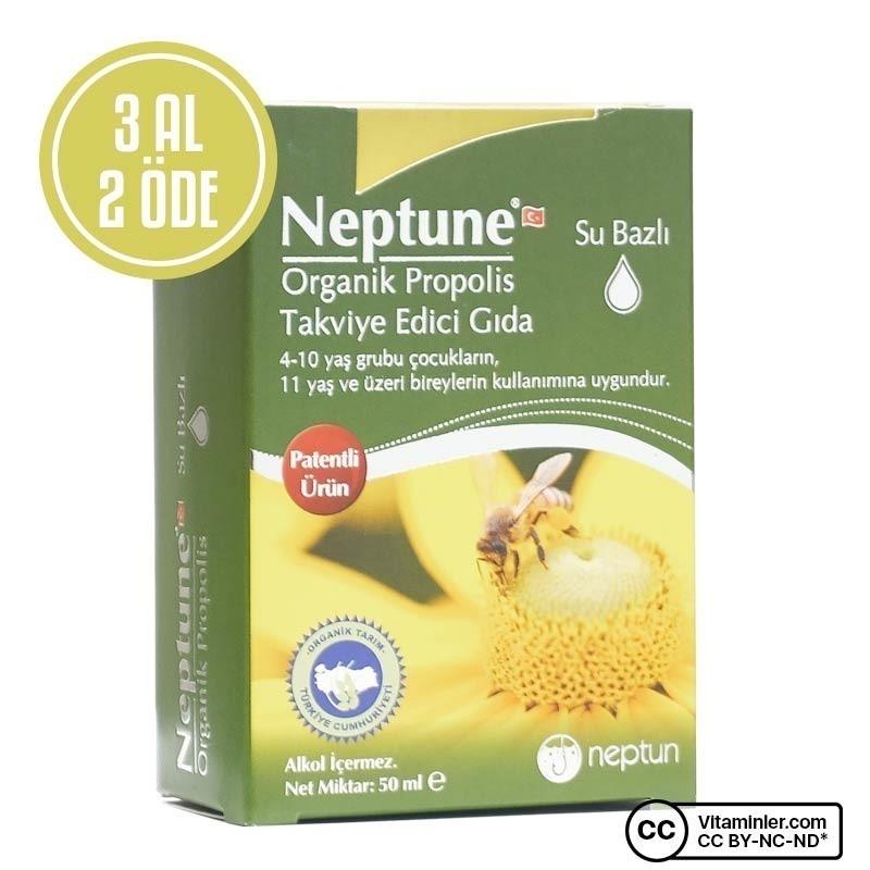 Neptune Organik Su Bazlı Propolis 50 Ml 3 Al 2 Öde